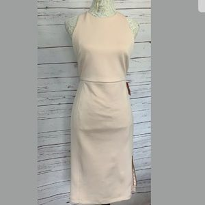 NWT ASOS Baby Pink Fitted Midi Dress